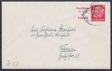 DR ZD W 67 EF auf Brief mit BP Bahnpost Köln nach Viersen , Zussammendruck