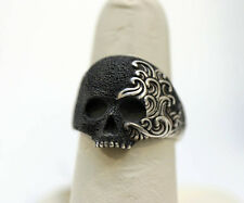 DAVID YURMAN NEW Small Sterling Silver Mens Waves Skull Ring 11