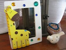 New Rustic Whimsical Giraffe Theme Wooden Table Top Frame w/Colorful Bling!