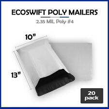 20 10x13 Ecoswift Poly Mailers Plastic Envelopes Shipping Mailing Bags 235mil