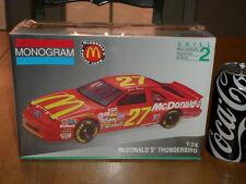Nascar - McDonald'S Racing Team- Thunderbird, Plastic Model Kit Car, Scale 1:24