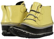 SOREL OUT N ABOUT BOOTS WOMEN'S ANKLE WATERPROOF SNOW RAIN BOOTIES YELLOW
