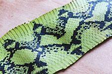 Python Printed-on Real Cobra Snake Skin Hide Leather Snakeskin Inchworm