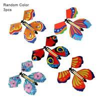 3 Stück Karte Magic Flying Plastic Butterfly Überraschung Geburtstag H4Q5