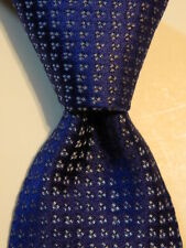 GIORGIO ARMANI Collezioni Silk Blend Necktie ITALY Luxury Geometric Blue EUC