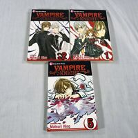 Lot Vampire Knight Manga vol. 1, 2, 5. English Matsuri Hino Shojo Beat