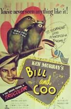 BILL AND COO Movie POSTER 27x40 George Burton Ken Murray Elizabeth Walters