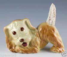 Vintage Ceramic Dog Figurine Air Freshener With Replacement Sponge Wick