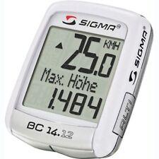 Ciclocomputadores y GPS blancos para bicicletas