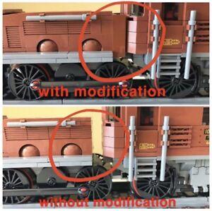 Modifikation für Lego 10277 Krokodil crocodile Lokomotive