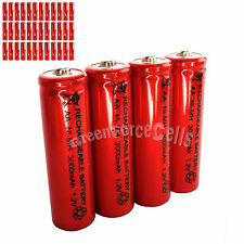 36 pcs AA LR06 3000mAh 1.2V NI-MH rechargeable battery CELL/RC MP3 2A SILVER RED