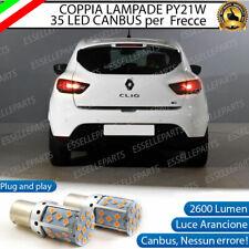 COPPIA LAMPADE PY21W CANBUS 35 LED RENAULT CLIO IV FRECCE POSTERIORI NO ERROR