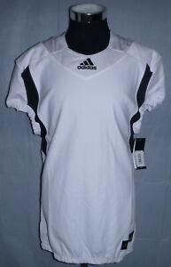 Adidas Pro Cut Techfit Hyped Blank Football Jersey White/Black Men's Size Large