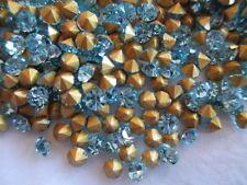 20 Gross Machine Cut Crystal Aquamarine Rhinestones SS15 / PP30 - w/Pack