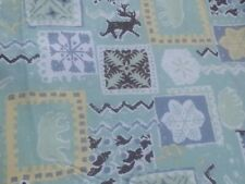 Stretch Cotton Xmas Jersey snowflakes antlers Print Dress/Craft Fabric *Free P&P