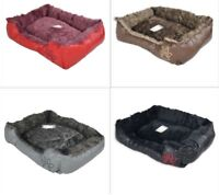 Luxurious Soft Square Pet Bed Basket-Comfortable Rest Place for your Pet Bed