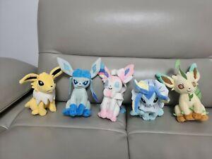 Pokemon Soft Plush Bundle - Eevee Evolution, Galceon, sylveon, leafeon, Vaporeon