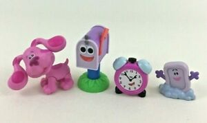 Blues Clues Take Along Friends 4pc Lot Magenta Soap Table Mailbox Tickety Figure
