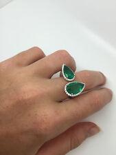 6.46ct Emerald & diamond ring 18ct white gold