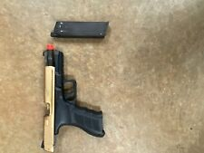 CUSTOM GOLD KWA ATP AUTO AIRSOFT PISTOL WITH CAN OF GREEN GAS