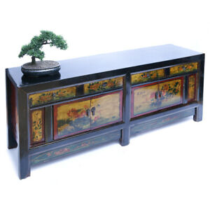 Antikes chinesisches großes Sideboard 208cm Antiquität China Bord TV Bord antik