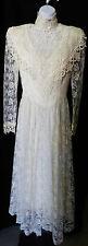VTG Jessica McClintock Bridal Wedding Gown Dress Floral Gorgeous Lace Size 5/6