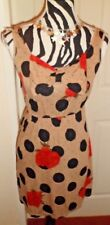 M BUTTERFLY ROSE AND SPOT DESIGN DRESS SIZE SMALL BNWT