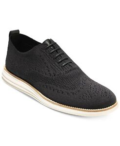 Cole Haan Men Wingtip Oxford Original Grand Stitchlite Size US 11.5M Black Ivory