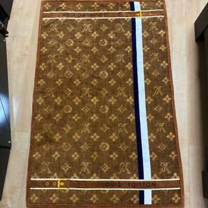 Louis Vuitton Beach Towel bath mat Monogram brown Cotton rug 145 x 94 cm