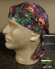Pirate Girl Roses Rose Doo Rag Headwrap Skull Durag Sweatband Capsmith CDLX04
