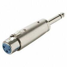 Xlr 3 broches femelle douille pour mono male 6.3mm plug jack convertisseur adaptateur