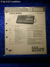 Sony Service Manual ICF SW800 PLL Synthesized Receiver (#3121)