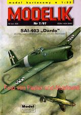 """Modelik  7/97 - SAI-403 """"Dardo""""  - 1:33"""