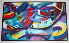 "RARE 1993 Sandra Ramsauer ""BLUE Z"" Original Abstract Painting"
