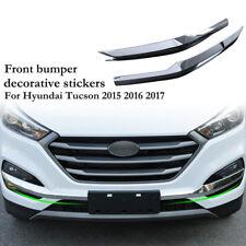 Car Front Bumper Fog Light Frame Trim Stickers for Hyundai Tucson 2015-2017