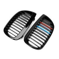 2004-07 GLOSS BLACK M-COLOR KIDNEY GRILLES GRILL FOR BMW E81 E87 1 Series 120i