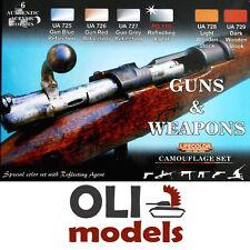 GUNS & WEAPONS COLORS Acrylic Paint Set 6x20ml  LIFECOLOR CS-26