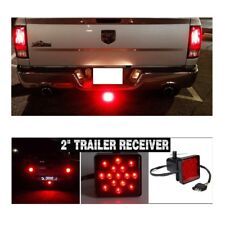 "Universal 2"" Car Truck Trailer Hitch Towing Receiver Lamp 15 LED Brake w/ Pin"