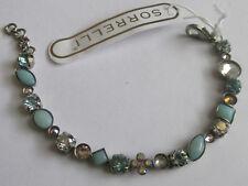 Baq3Assky antique silver tone Sorrelli Sky Blue Peach Bracelet