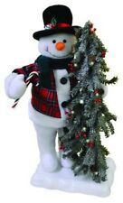 "22"" H Animated Musical Snowman with Lighted Tree Christmas Decor"