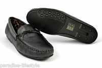 Mens Loafers Moccasins Leather Black Shoes Handmade Boots New Casual Size Gents