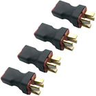4Pcs No Wire RC Deans T Series Connector 1 Female to 2 Male T Plug in Series for