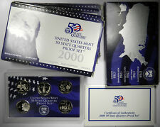 2000 STATE QUARTERS 5-COIN CLAD PROOF SETS ~ GROUP OF 5 SETS ~ 25 TOTAL COINS!