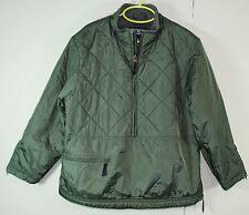 Lands' End Kids Fleece Lined Jacket - Green Nylon Windbreaker Shell - Boys 6X-7