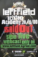 LEFTFIELD TOURPOSTER KONZERTPLAKAT LONDON BRIXTON ACADEMY 2000