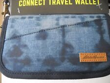New Eddie Bauer Connect Travel Wallet, blue