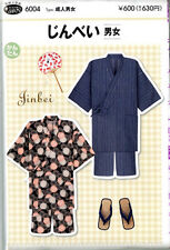 Easy Jinbei Kimono Full-Size Pattern Sheet for Man and Woman