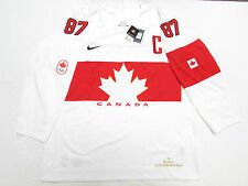 SIDNEY CROSBY TEAM CANADA WHITE SOCHI 2014 OLYMPICS NIKE HOCKEY JERSEY SIZE 3XL