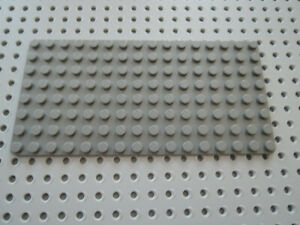 Lego 1 x Platte Bauplatte flach 3865 neu dunkelgrau   8x16