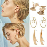 1Pair Fashion Women Gold Boho Geometric Ear Stud Drop Dangle Earrings Jewelry
